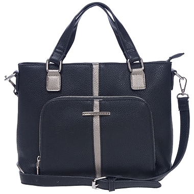 Club Rochelier Minimal Collection, Onyx Medium Satchel (DFCR165-ONYX)