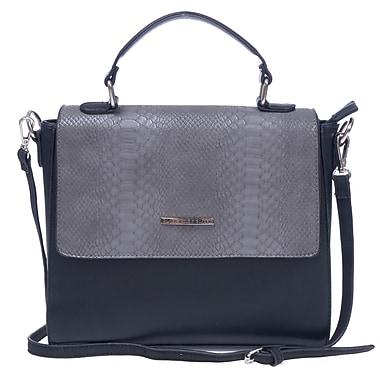 Club Rochelier Python V Collection, Midnight Structured Crossbody (DFCR169-MIDNHT)