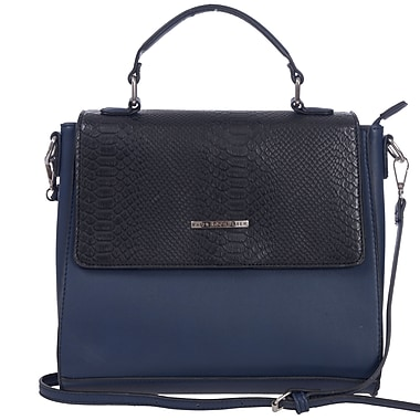 Club Rochelier Python V Collection, Midnight Structured Crossbody (DFCR169-STEEL)