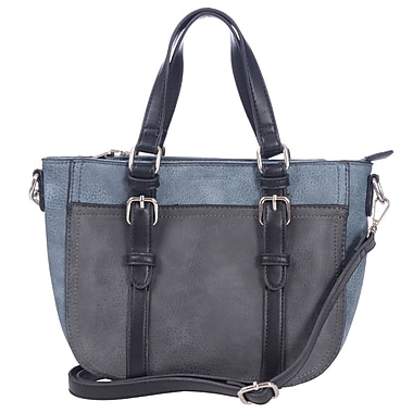 Club Rochelier Western Collection, Pewter Medium Crossbody with Buckle Detail (DFCR174-PEWTER)
