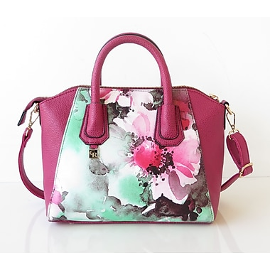Club Rochelier Floral Design Collection, Rose Tote (DFCR28251-ROSE)