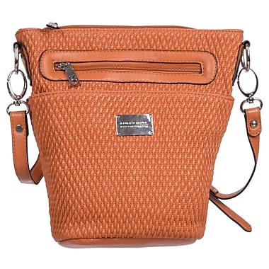Club Rochelier Blakely Collection, Orange Quilted Crossbody (DFCR536-ORG)