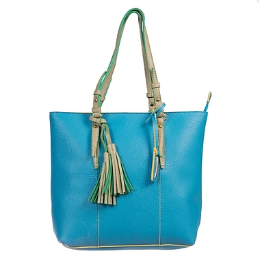 Club Rochelier Ava Collection, Sky Blue Colour Pop Tote (DFCR703-SKYBLUE)