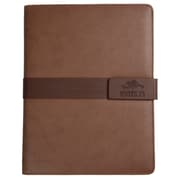 Roots Brandy Combo Slim Snap Padfolio with Magnetic tab