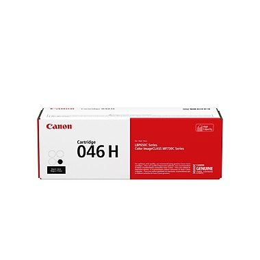 Canon 046 H Black Toner Cartridge, High-Yield (1254C001)