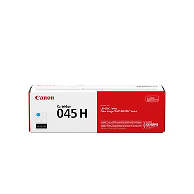 Canon 045 H Cyan High-Yield Toner Cartridge (1245C001)