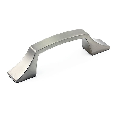 Richelieu 3 4/5'' Center Bar Pull; Brushed Nickel