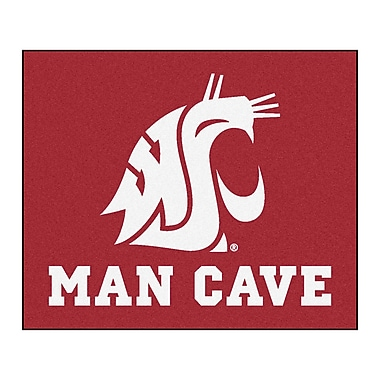 FANMATS NCAA Washington State University Man Cave Indoor/Outdoor Area Rug