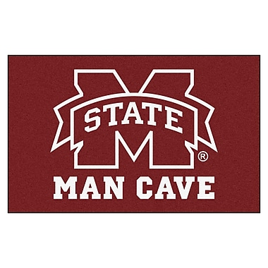 FANMATS Collegiate NCAA Mississippi State University Man Cave Doormat