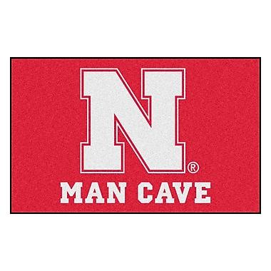 FANMATS Collegiate NCAA University of Nebraska Man Cave Doormat
