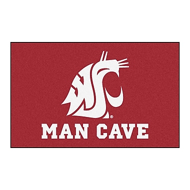 FANMATS Collegiate NCAA Washington State University Man Cave Doormat