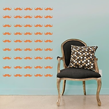 Wallums Wall Decor Mini Mustaches Wall Decal; Persimmon