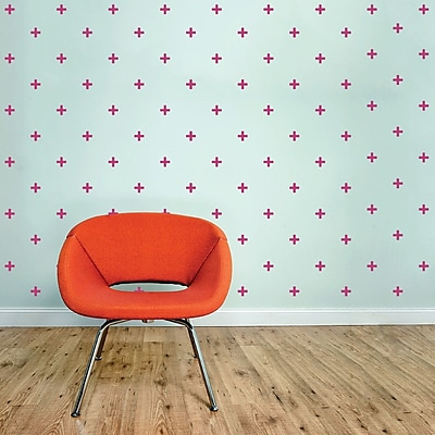 Wallums Wall Decor Plus Signs Wall Decal; Persimmon