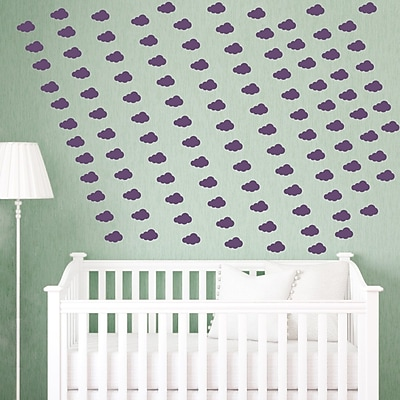 Wallums Wall Decor Mini Clouds Wall Decal; Violet
