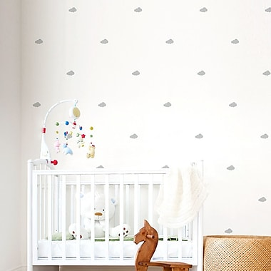 Wallums Wall Decor Mini Clouds Wall Decal; Dark Gray