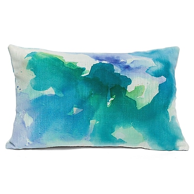 18Karat Submerge Lumbar Pillow; Green