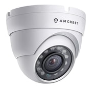 Amcrest ProHD Outdoor 1080P POE Dome IP Security Camera - IP67 Weatherproof, 1080P (1920 TVL), White