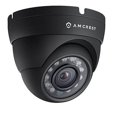 Amcrest ProHD Outdoor 1080P POE Dome IP Security Camera - IP67 Weatherproof, 1080P (1920 TVL), Black