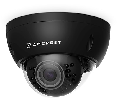Amcrest ProHD Outdoor 3 Megapixel POE Vandal Dome IP Security Camera - 3MP (2048 TVL), Black
