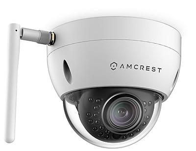 Amcrest ProHD Outdoor 3 Megapixel Wi-Fi Vandal Dome IP Security Camera - 3MP (2048 TVL), White
