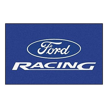 FANMATS Ford - Ford Racing Doormat; Blue