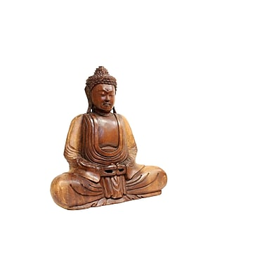 Cohasset Gifts & Garden Indonesian Buddha w/ Hands in Lap Statue