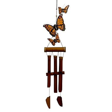 Cohasset Gifts & Garden Monarch Butterfly Harmony Bamboo Wind Chime