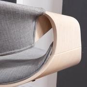 !nspire Adjustable Height Swivel Bar Stool; Gray
