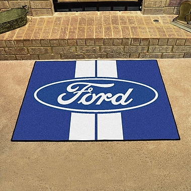 FANMATS Ford - Ford Oval w/ Stripes All Star Mat; Blue