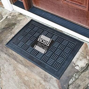 FANMATS Ford - Boss 302 Medallion Doormat; Gray