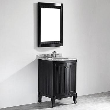 Vinnova Verona 24'' Single Vanity Set w/ Mirror; Espresso