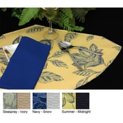 Pacific Table Linens Bouquet Reversible Wedge Placemat (Set of 2); Seaspray / Ivory