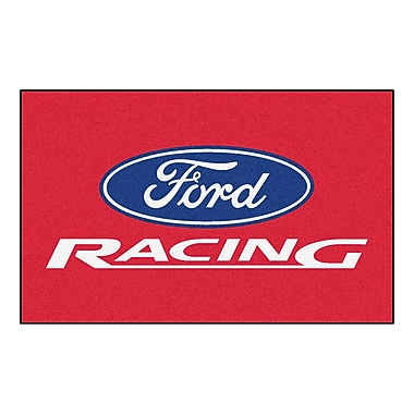 FANMATS Ford - Ford Racing Doormat; Red