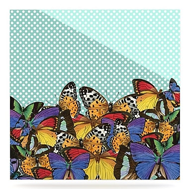 East Urban Home 'Butterfly Polka' Graphic Art Print on Metal; 10'' H x 10'' W x 1'' D