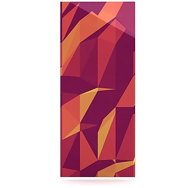 East Urban Home 'Abstract Mountains' Graphic Art Print on Metal; 20'' H x 16'' W x 1'' D