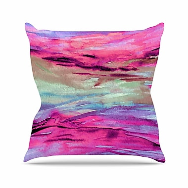 East Urban Home Ebi Emporium Unanchored 4 Lavender Outdoor Throw Pillow; 18'' H x 18'' W x 5'' D