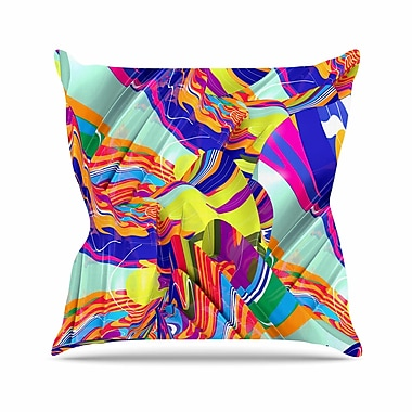East Urban Home Danny Ivan to Swim Abstract Outdoor Throw Pillow; 16'' H x 16'' W x 5'' D
