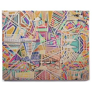 East Urban Home 'Abstract Geometric Playground' Graphic Art Print on Wood; 8'' H x 10'' W x 1'' D