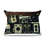 East Urban Home Robin Dickinson 'Through The Years' Vintage Camera Pillow Case