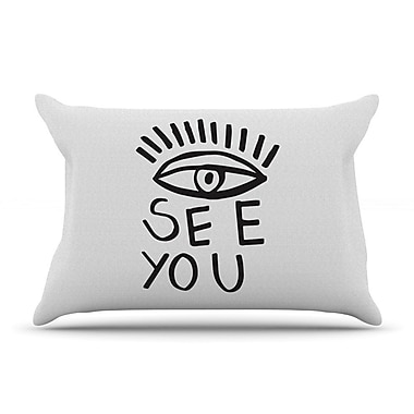East Urban Home Vasare Nar 'Eye See You' Pillow Case
