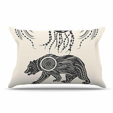 East Urban Home Famenxt 'Boho Ornate Bear' Pillow Case