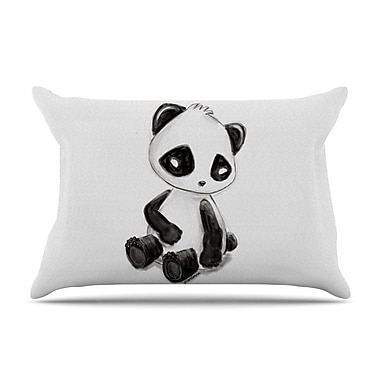 East Urban Home Geordanna Cordero-Fields 'My Panda Sketch' Pillow Case