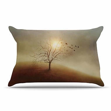 East Urban Home Viviana Gonzalez 'Lone Tree Love I' Pillow Case