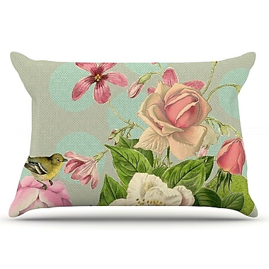 East Urban Home Suzanne Carter 'Vintage Garden Cush' Flowers Pillow Case