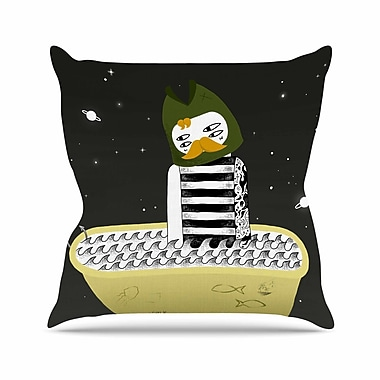 East Urban Home Anya Volk Fisherman Abstract Outdoor Throw Pillow; 16'' H x 16'' W x 5'' D