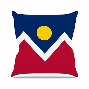 East Urban Home Bruce Stanfield Denver Colorado City Flag Vector Geometric Outdoor Throw Pillow