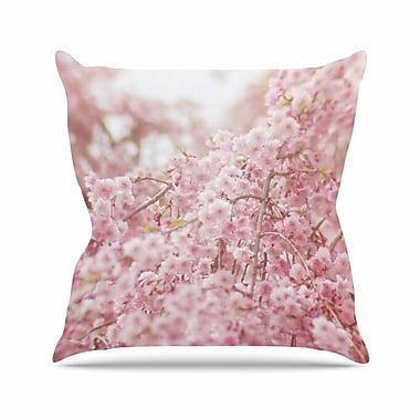 East Urban Home Debbra Obertanec Spring Floral Digital Outdoor Throw Pillow; 18'' H x 18'' W x 5'' D