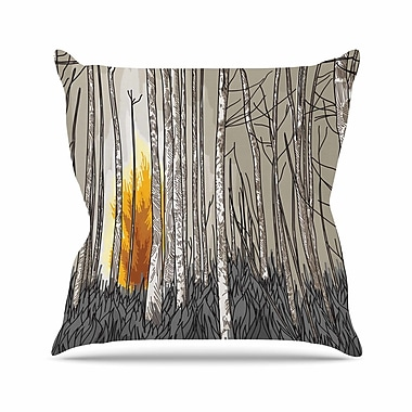 East Urban Home Sam Posnick Smokey Forest Fire Outdoor Throw Pillow; 16'' H x 16'' W x 5'' D