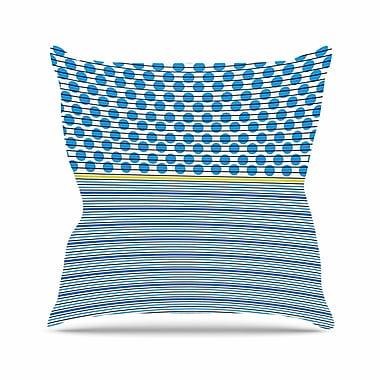 East Urban Home Trebam Bazen Outdoor Throw Pillow; 18'' H x 18'' W x 5'' D