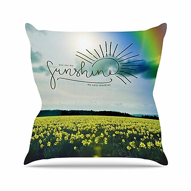 East Urban Home Robin Dickinson You are My Sunshine Outdoor Throw Pillow; 18'' H x 18'' W x 5'' D